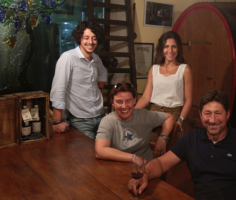 Sala degustazione vini Villa Crine